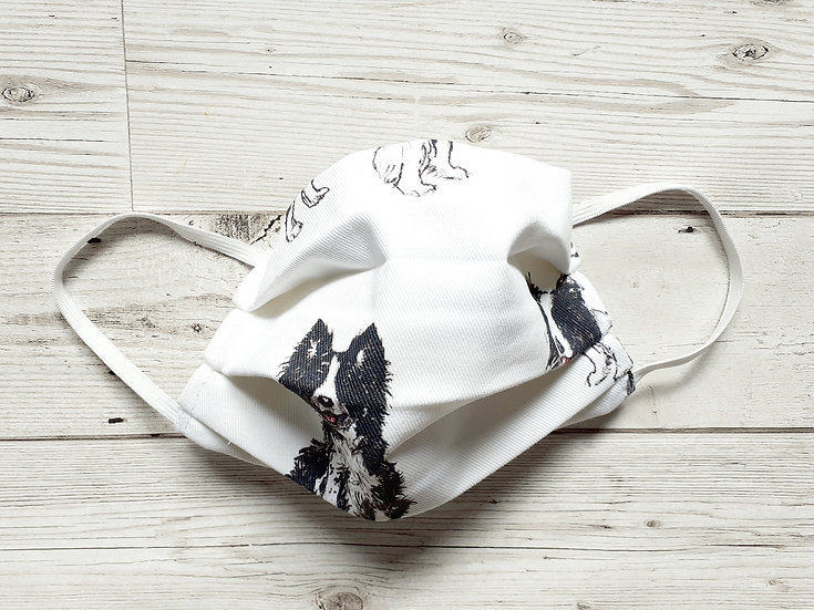 Border Collie Print Face Mask