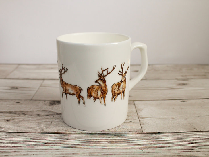 Stags Bone China Mug & Card Gift Set