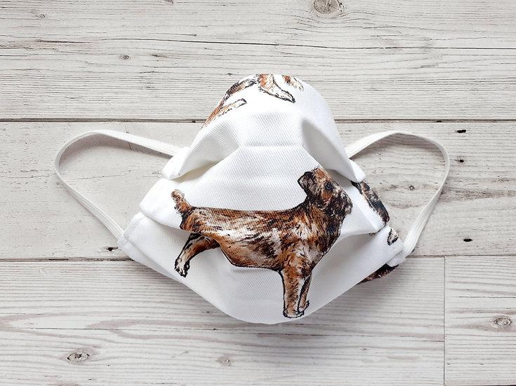 Border Terrier Print Face Mask