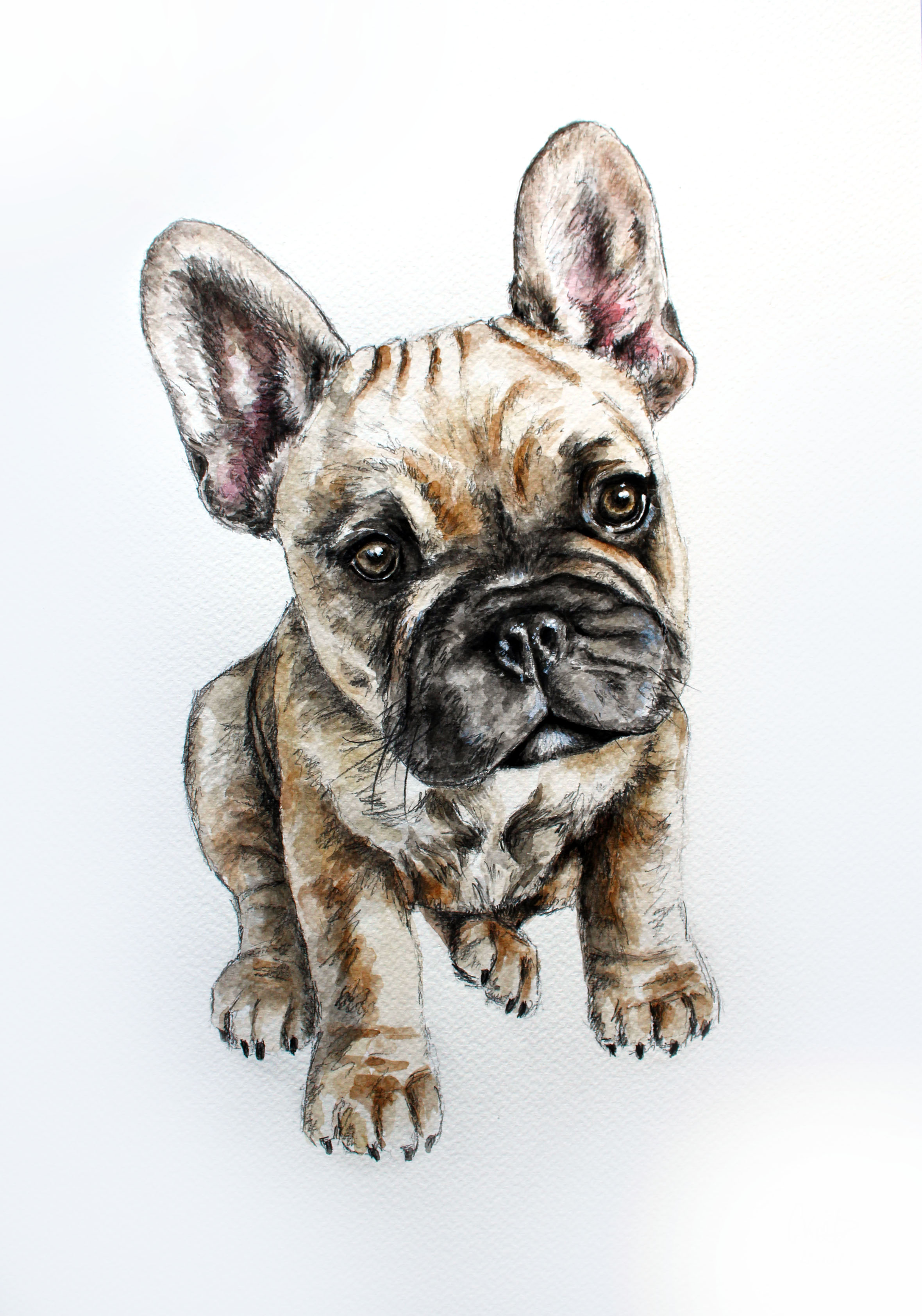 Nelly A3 Watercolour Portrait