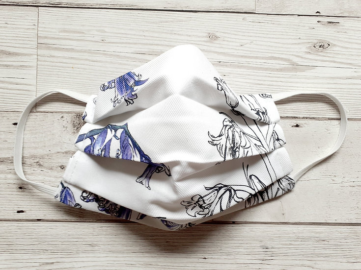 Bluebells Print Face Mask