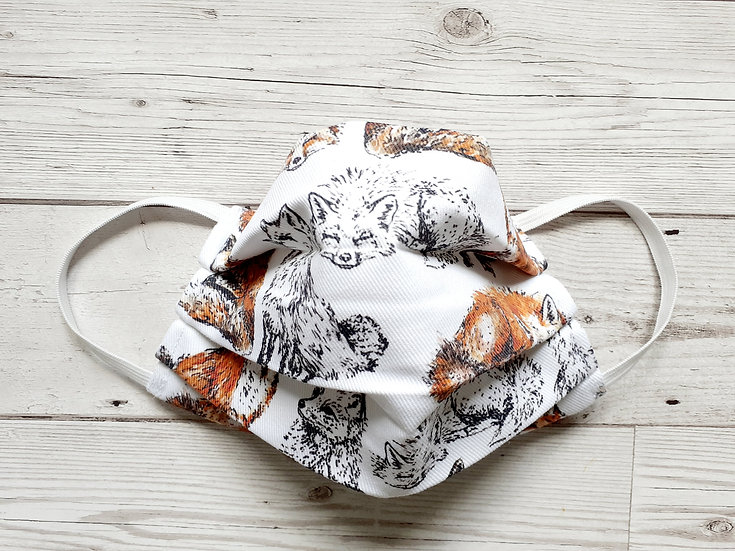 Foxes Print Face Mask
