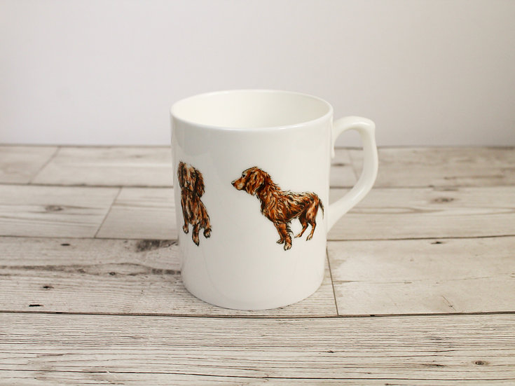 Cocker Spaniel Dog Bone China Mug & Card Gift Set