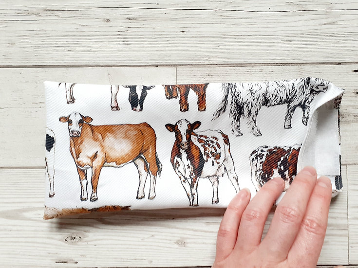 Cows Face Mask Pouch
