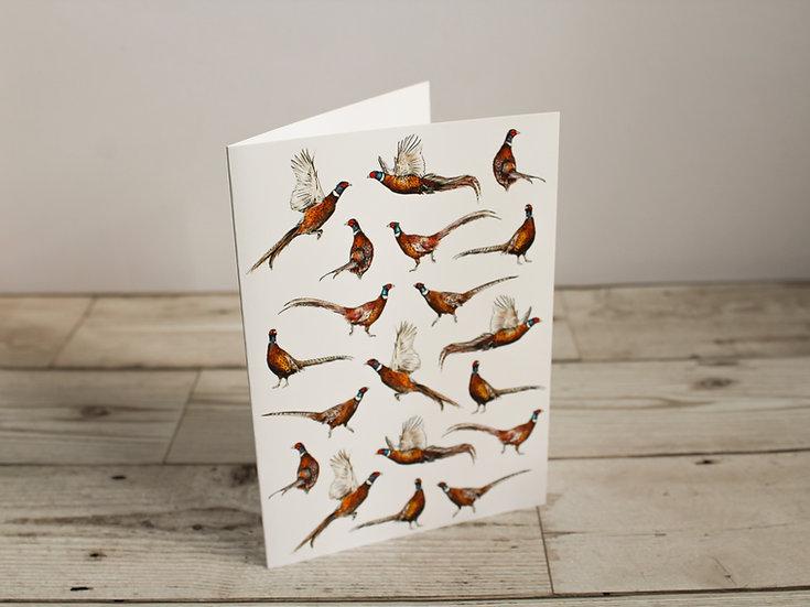 Pheasants Greeting Card