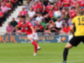 Callum Powell scoring for Wrexham FC
