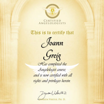Joann certificate angelology in NZ