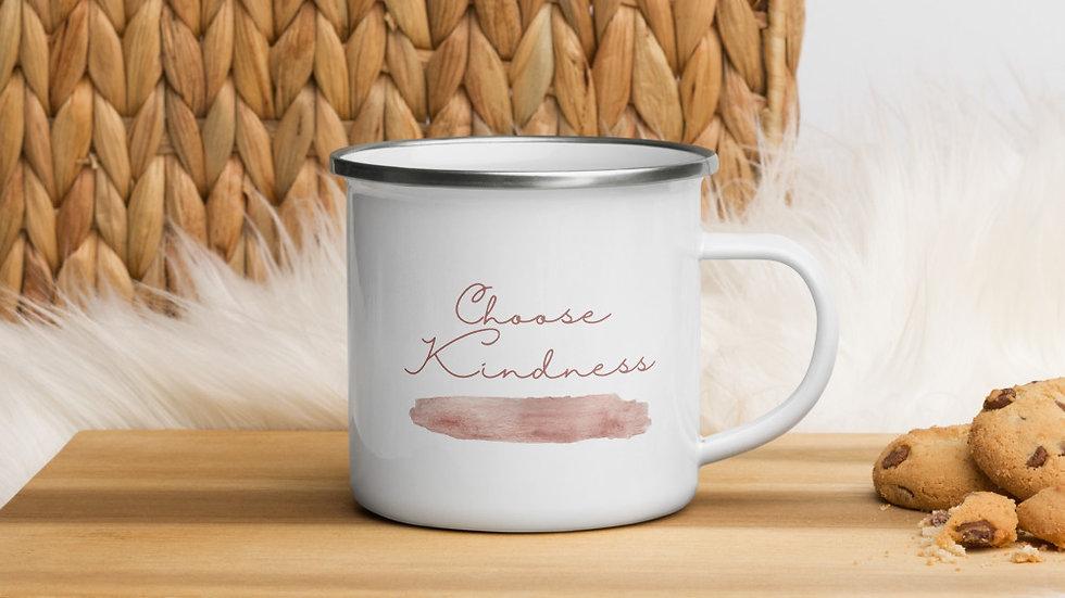 """Emaille-Tasse """"Choose Kindness"""""""