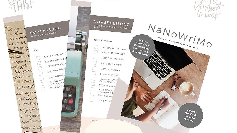 NaNoWriMo Workbook Printable - 56 Seiten