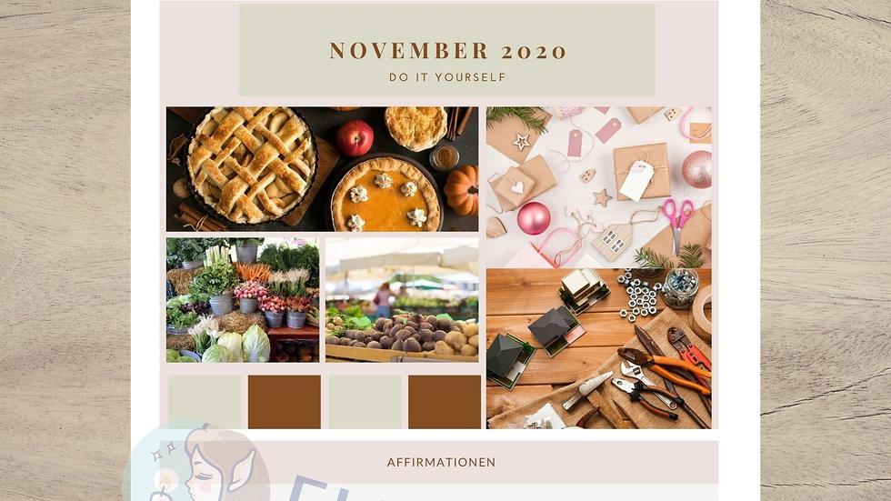 November 2020 Selbstliebe Journal Monthly Printable