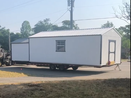 New Outbuilding Arrives at the Thrift Spot!