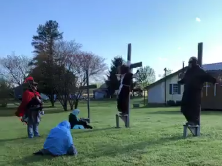Good Friday Re-Enactment at the Thrift Spot!