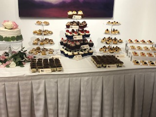 Full Wedding Reception Mini Dessert Disp