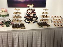 Full Wedding Reception Mini Dessert Disp