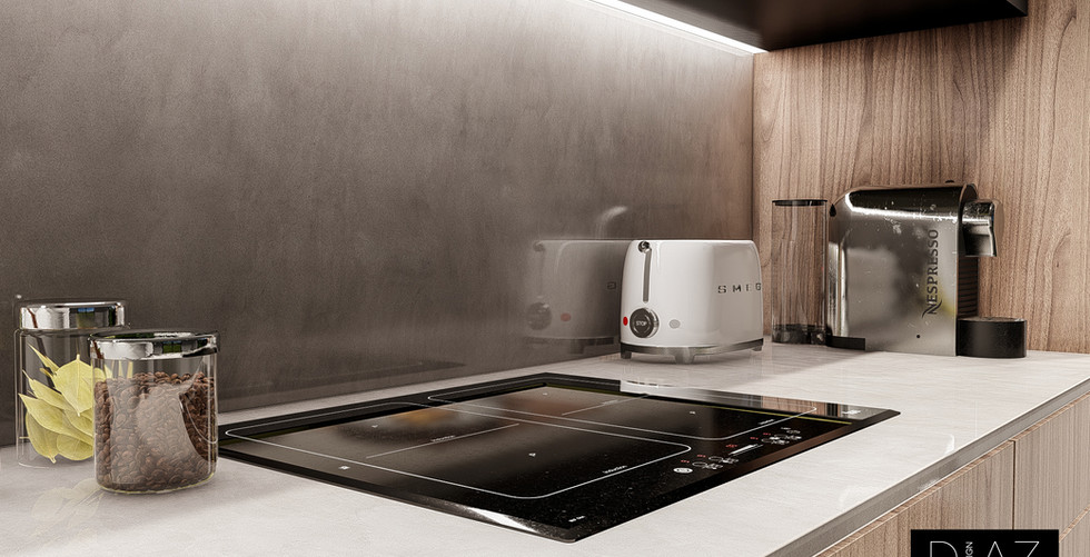 Detalhes Cozinha em 3D
