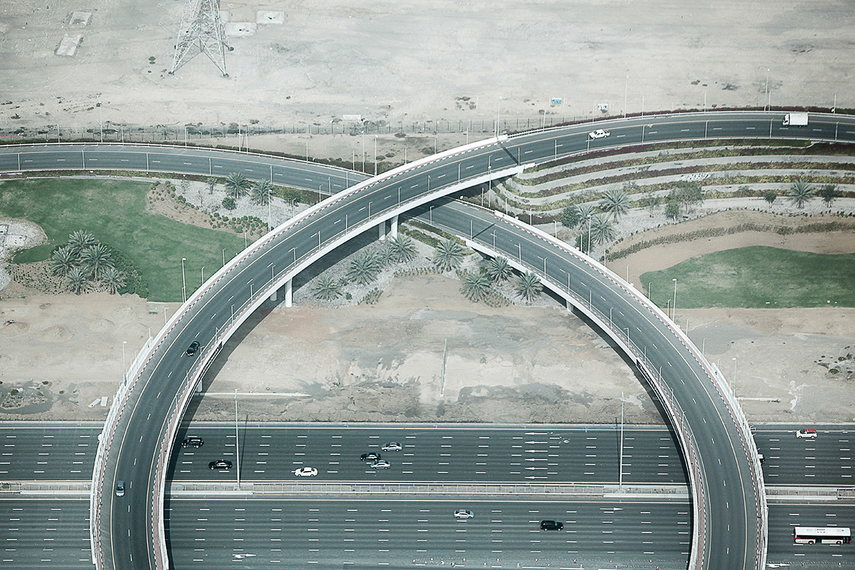 Highway interchange - Dubai, UAE -.jpg