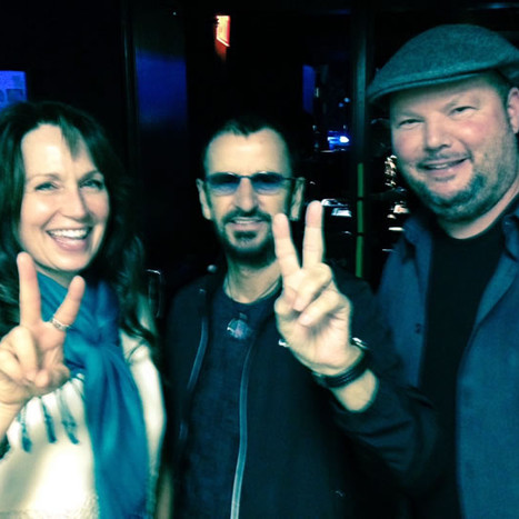 Kim with Ringo Starr and Christopher Cross
