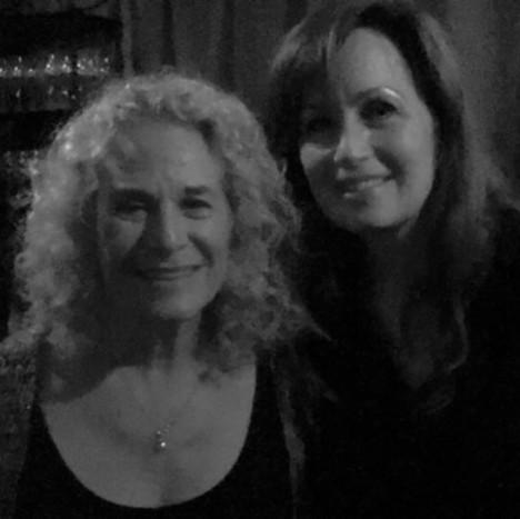 Kim with Carole King