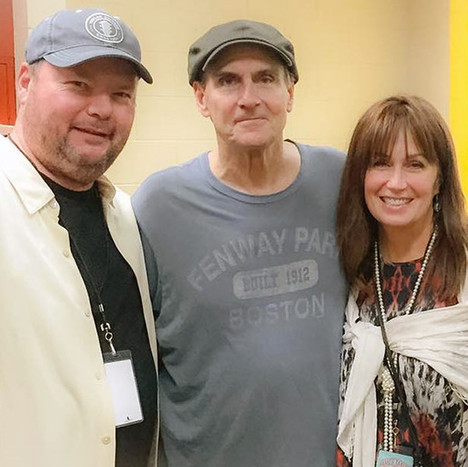 Kim with James Taylor and Christopher Cross
