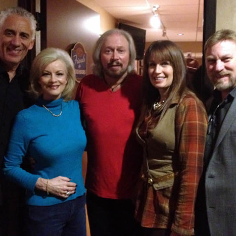 Kim with Barry Gibbs and Friends