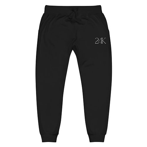 24K Unisex Fleece Sweatpants