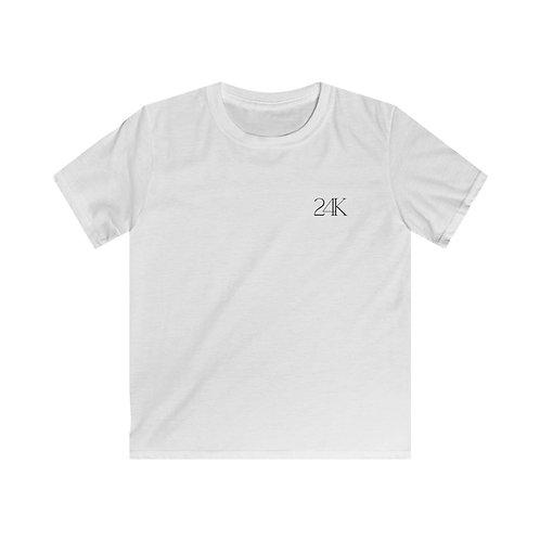 24K Kid's White Tee