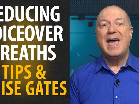 How voiceovers can use noise gates to reduce breaths and background hum.  By Peter Baker