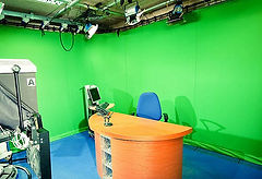 Our green screen studio