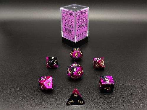 Chessex CHX 26440 Gemini Black-Purple/gold 7pc Dice Set