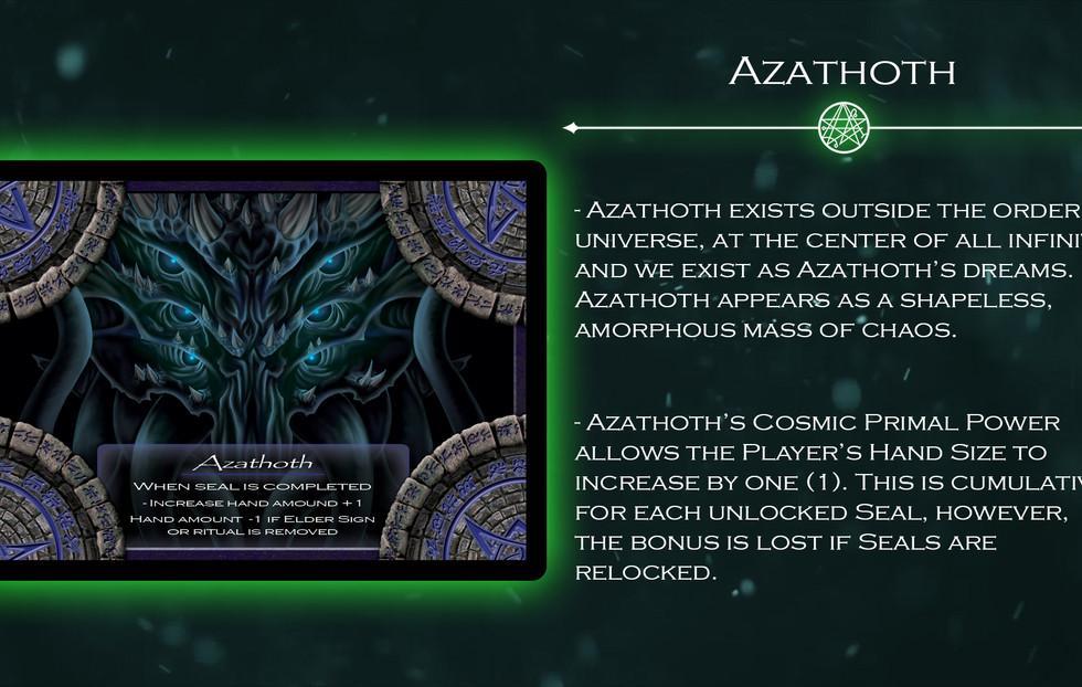 Azathoth Elder God Card