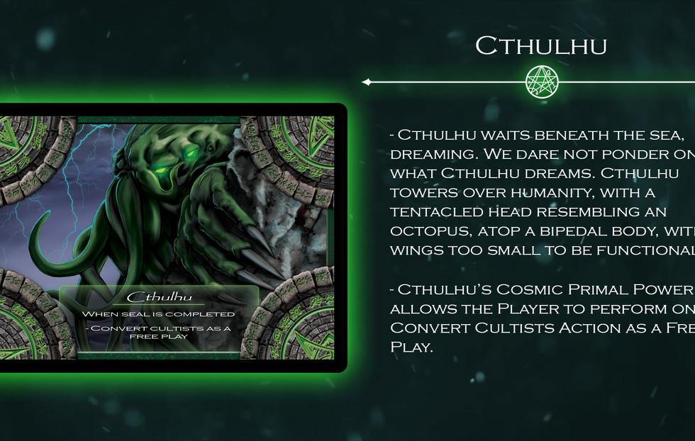 Cthulhu Elder God Card