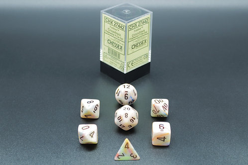 Chessex CHX 27442 Festive Circus/black 7pc Dice Set