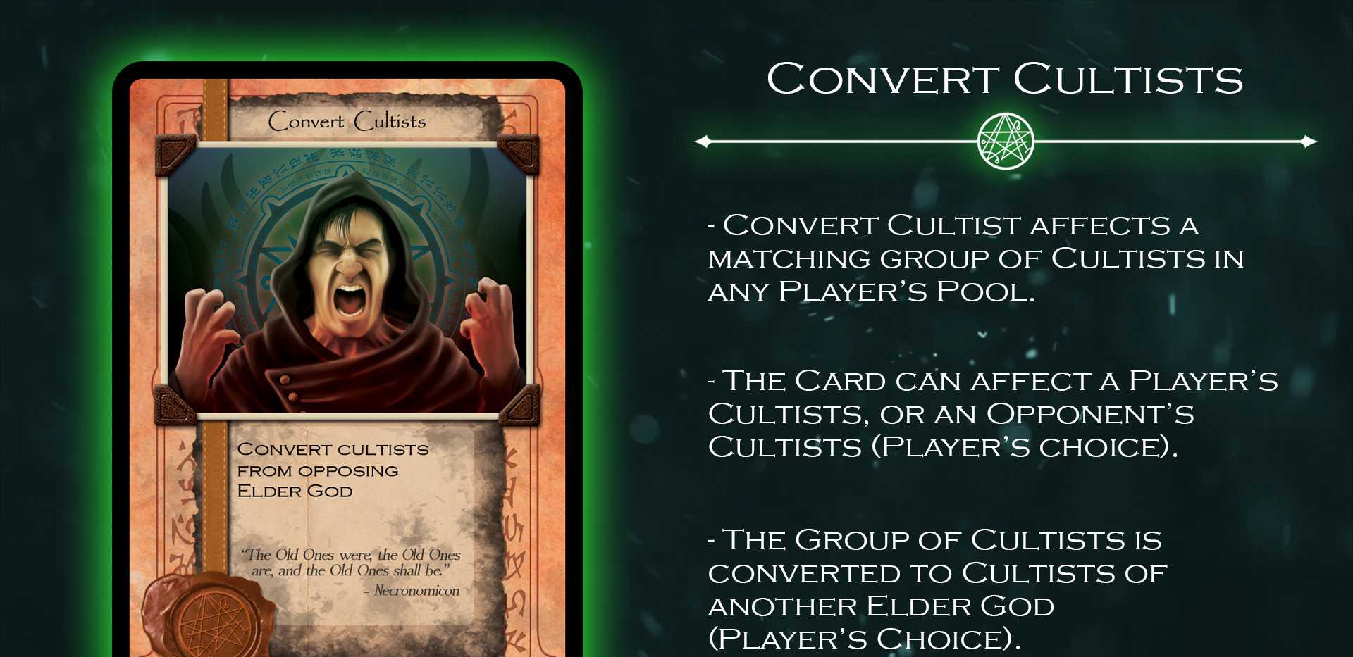 Convert Cultists Card