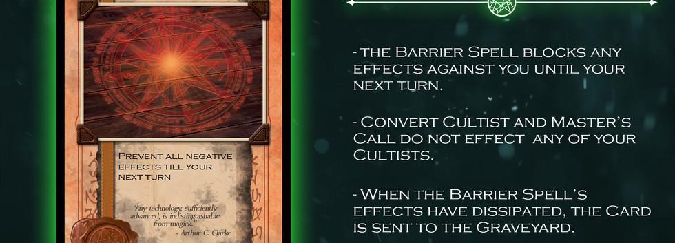Barrier Card Card