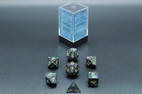 Chessex CHX 24799 Lustrous Shadow/gold 7pc Dice Set