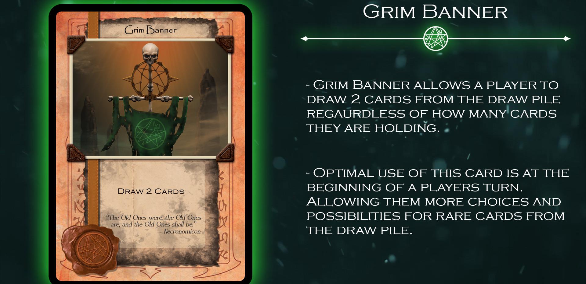 Grim Banner Card