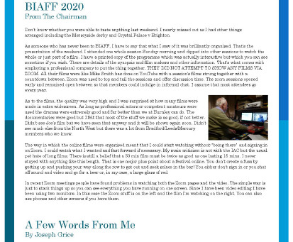 BFM NEWSLETTER