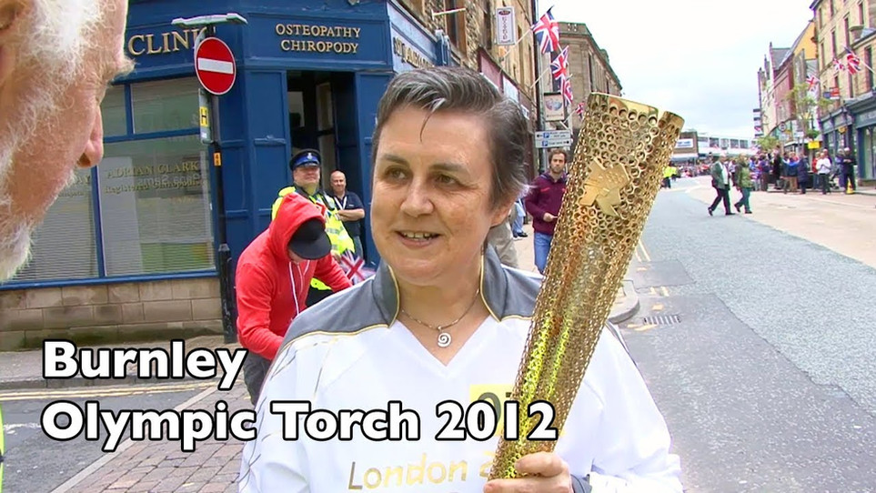 Burnley: The Olympic Torch relay in  June 2012