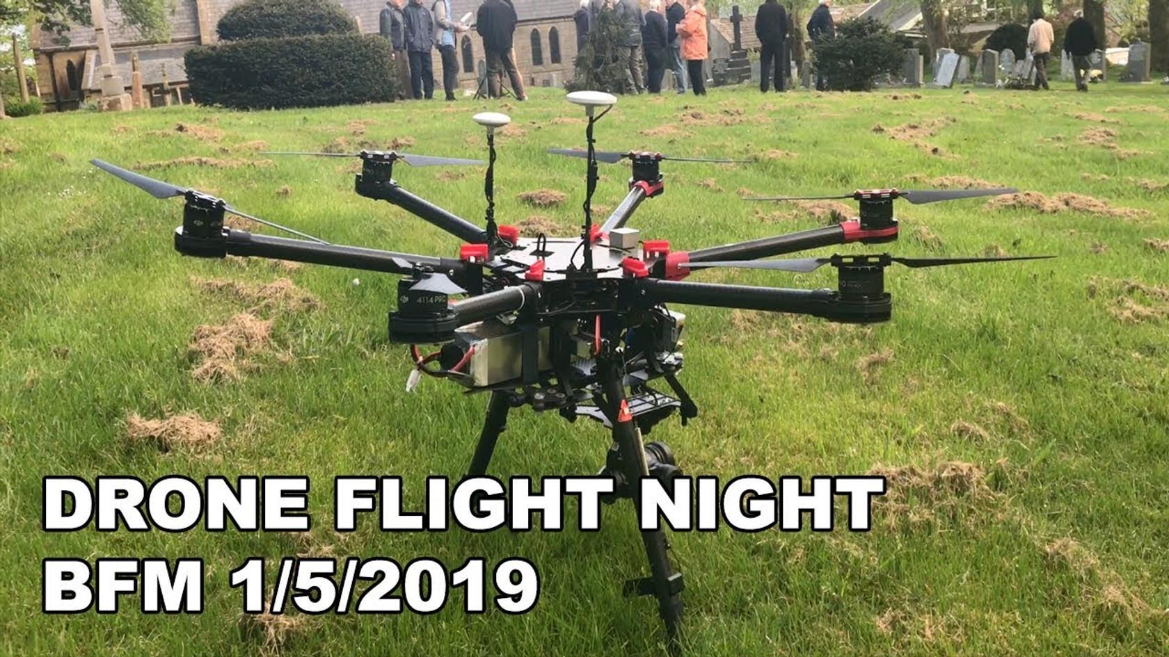 Drone Flight Night
