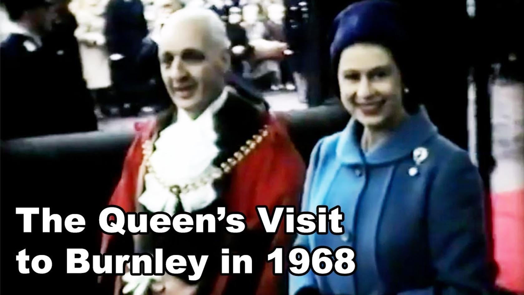 The Queen visits Burnley in 1968