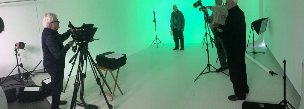 Newsreel shoot at Creative Talent Manage