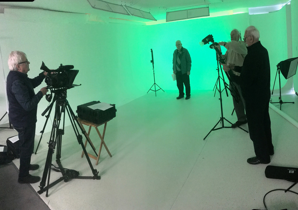 Newsreel shoot at Creative Talent Manage