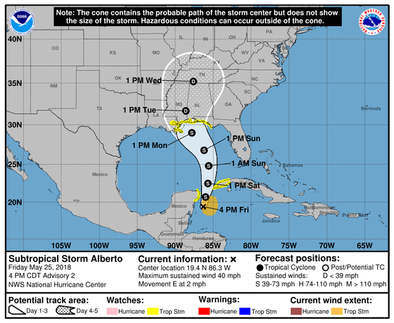Alberto Local Watch/Warning Statement/Advisory Number 2