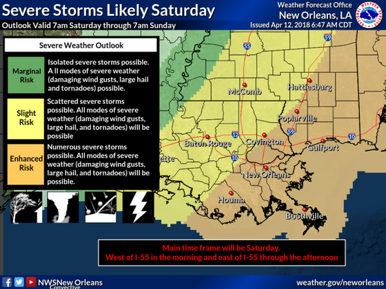Severe Storms Likely Saturday