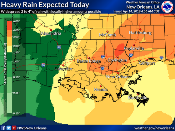 Heavy rain expected today