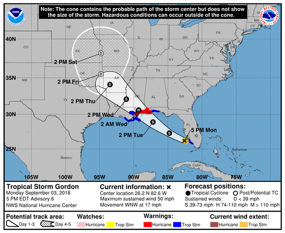 Tropical Storm Gordon Local Statement Advisory Number 6 National Weather Service New Orleans