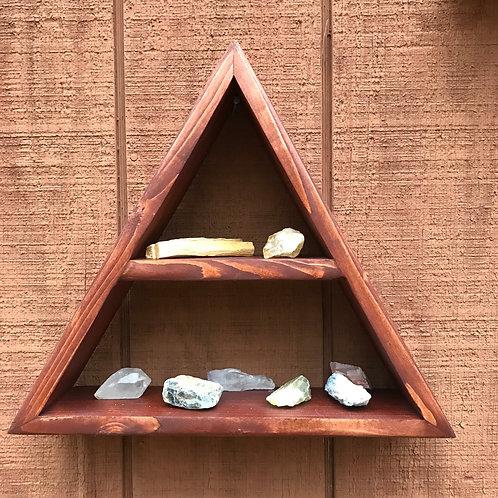 Amber Crystal Display Shelf