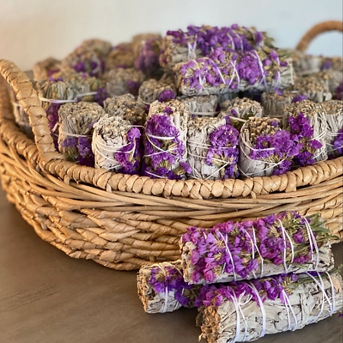 White Sage with Purple  Flowers