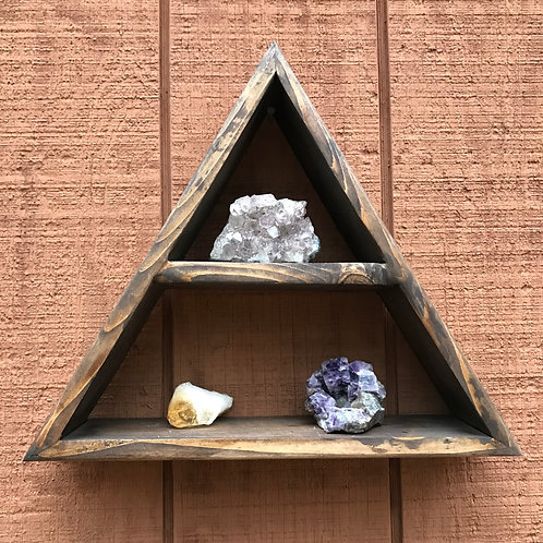 Antique Crystal Display Shelf