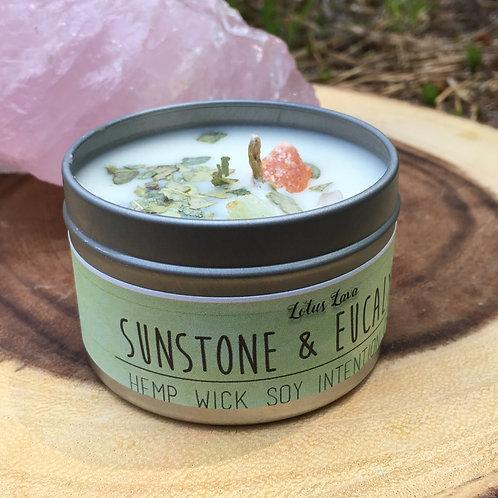 Sunstone & Eucalyptus Soy Hempwick Candle